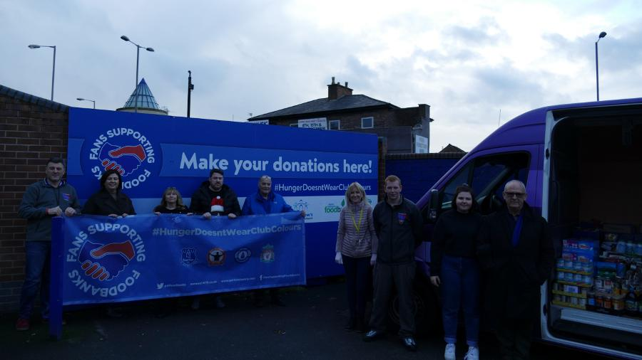 Everton Continues Fight Against Food Poverty For New Season