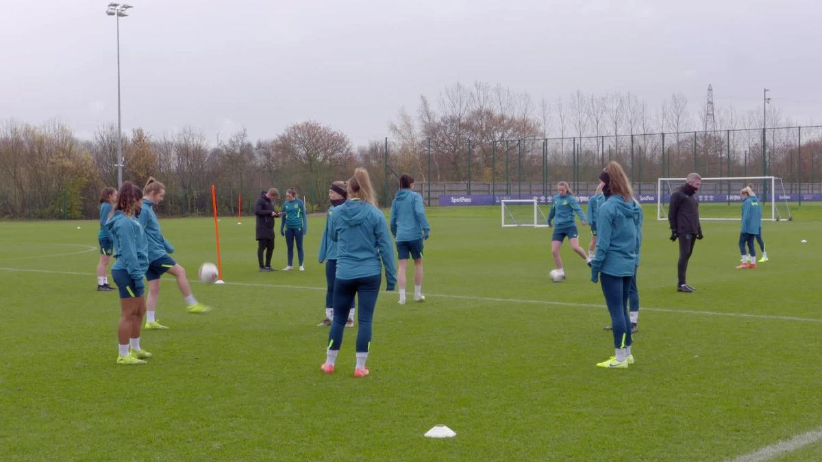 Watch In Form Everton Women Train Ahead Of Chelsea Home Clash