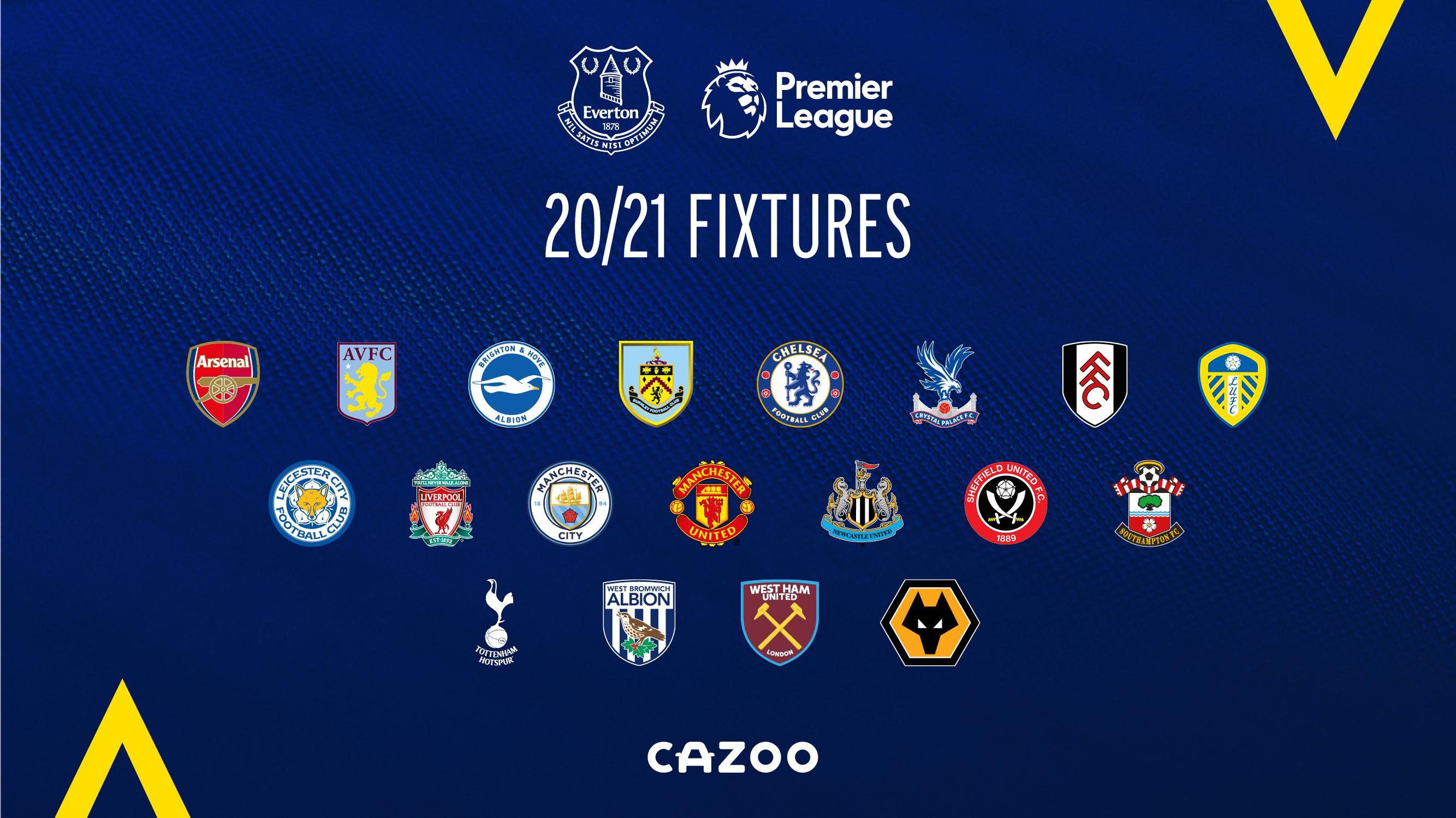 Everton's 2020/21 Premier League Fixture Schedule Revealed