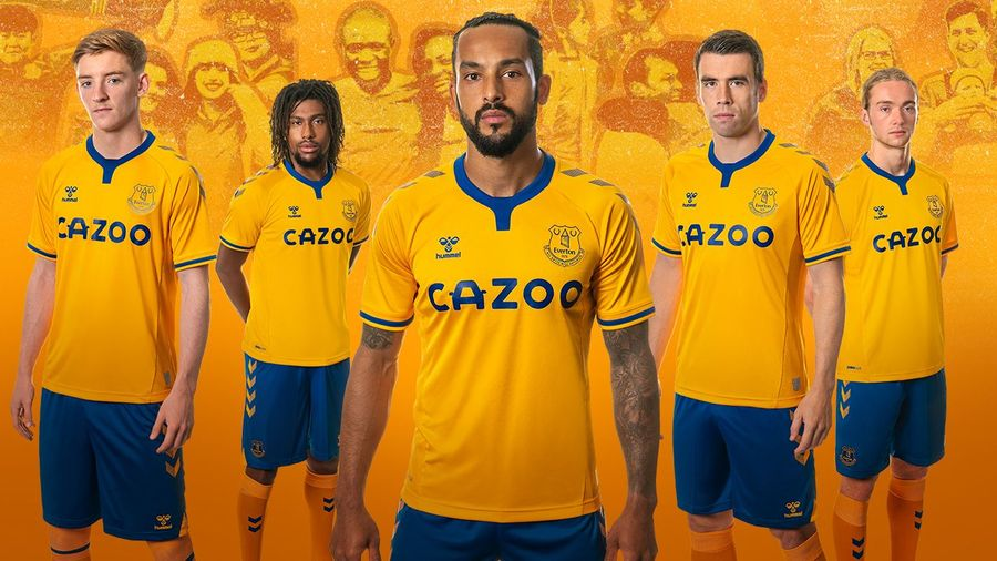 Everton And Hummel Release Classic Amber Away Kit