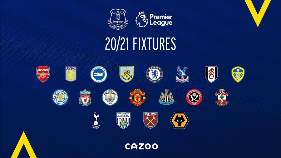 Everton S 2020 21 Premier League Fixture Schedule Revealed